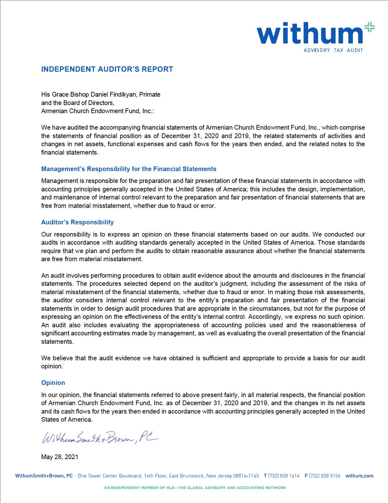 2020 Audited Financial Statement